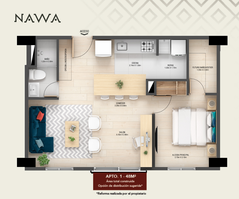 Planos del proyecto Nawa